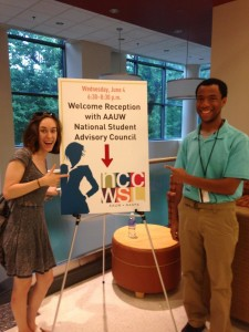 LSUA AAUW student organization members, Laura Saucier and Arthur Lewis, were able to attend the NCCWSL conference thanks to joint sponsorship by the Alexandria-Pineville branch and the LSUA student government association.