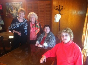 From left to right: Gloria Hearn, Lindell Edwards, Pam Todd and Rosemarie Banco