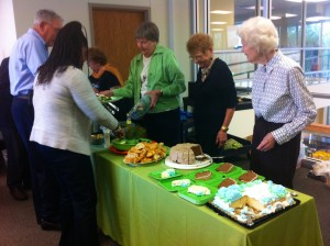 The luncheon meal was provided by the AAUW Alexandria-Pineville branch. Left to right:
