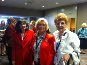 Alexandria-Pineville branch president, Gloria Hearn (right), at the AAUW National Convention with Camille Moran (left) and Lilly Ledbetter (center).