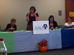 Presentation on LSUA/AAUW historical collaboration by LSUA archivist, Michelle Riggs.