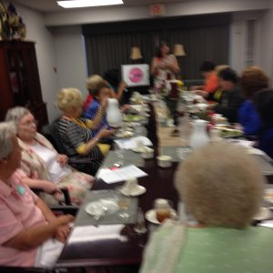 Camille Moran (Speaking), Bobbi Hynson, Ann Miller, Helen Moore, Bonnie White, Doris Wright, and others - 2016 Spring Open Board Meeting (June)