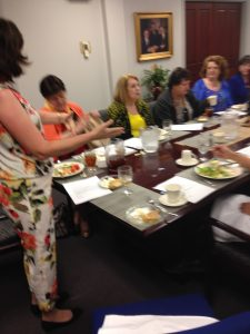 Camille Moran (Speaking), Sandra Purifoy, Barbara Hatfield, and others - 2016 Spring Open Board Meeting